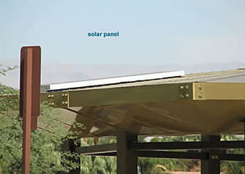 Solar Shade Structure LED Lighting